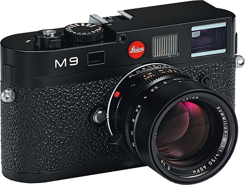 Leica's M9 rangefinder digital camera. Photo provided by Leica Camera AG. Click for a bigger picture!