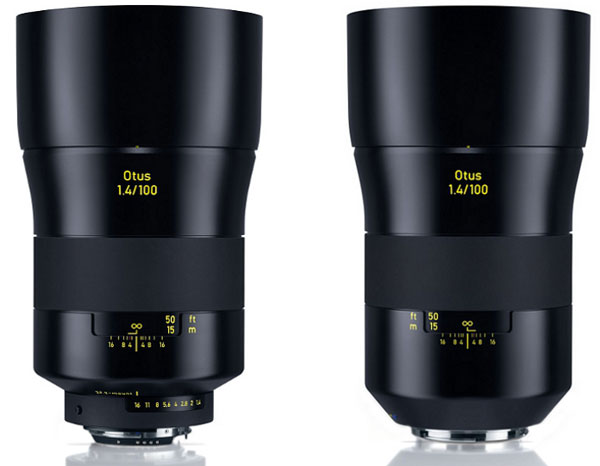 Zeiss announces Otus 100mm f/1 4 prime lens for Canon and