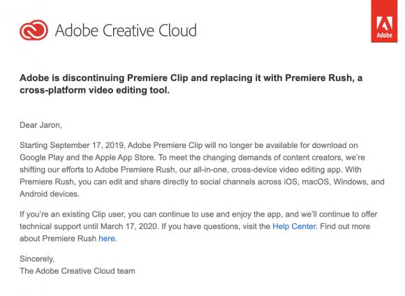 Adobe finally, mercifully, kills off Premiere Clip