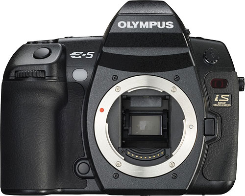 Olympus' E-5 digital SLR is the most recent E-System model. Photo provided by Olympus Imaging America Inc. Click for a bigger picture!