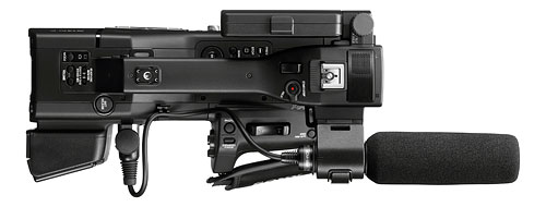 Top-down view of the Sony NEX-EA50. Photo provided by Sony Electronics Inc. Click for a bigger picture!