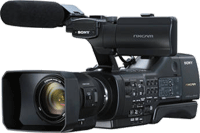 The Sony NEX-EA50UH camcorder. Photo provided by Sony Electronics Inc.