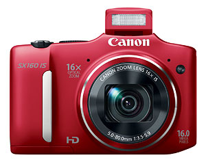 Canon's PowerShot SX160 IS digital camera. Photo provided by Canon. Click for a bigger picture!