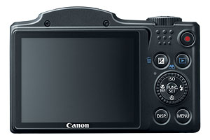 Canon's PowerShot SX500 IS digital camera. Photo provided by Canon. Click for a bigger picture!