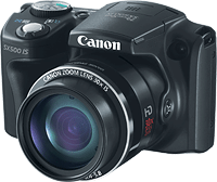 Canon's PowerShot SX500 IS digital camera. Photo provided by Canon. Click for our Canon SX500 preview!