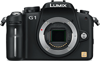 Panasonic's Lumix DMC-G1 was the first camera in what's now known as the Compact System Camera category, also known as a mirrorless camera. Photo courtesy of Panasonic.