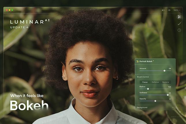 Luminar AI updated: Portrait Bokeh AI added, offers AI-powered bokeh to replicate a fast portrait prime