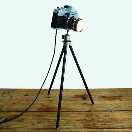 The Camera Bag These Vintage Camera Lamps Are A Bright Idea
