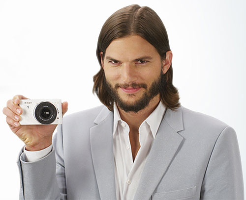 Ashton Kutcher with a Nikon 1-series camera. Photo provided by Nikon.