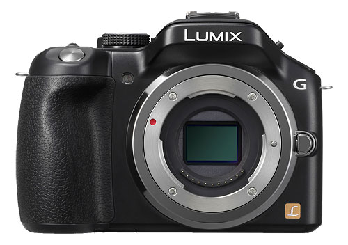 Panasonic's recently-announced Lumix DMC-G5. Photo provided by Panasonic.