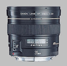 image of the Canon EF 20mm f/2.8 USM lens