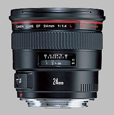 image of the Canon EF 24mm f/1.4L USM lens