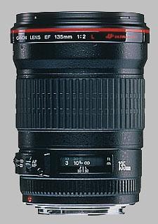 image of the Canon EF 135mm f/2L USM lens