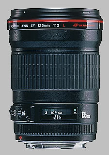 image of the Canon EF 135mm f/2L USM lens