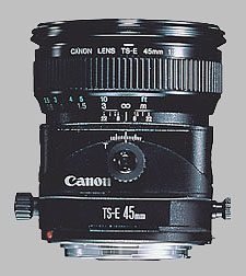 image of the Canon TS-E 45mm f/2.8 lens