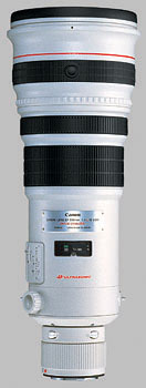image of the Canon EF 500mm f/4L IS USM lens