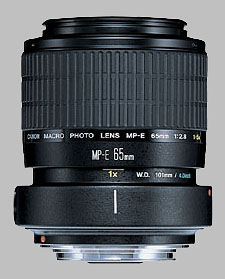 image of the Canon MP-E 65mm f/2.8 1-5x Macro lens