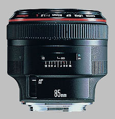 image of the Canon EF 85mm f/1.2L USM lens