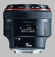 image of the Canon EF 85mm f/1.2L USM lens