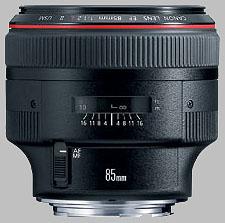 image of the Canon EF 85mm f/1.2L II USM lens