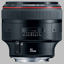 image of the Canon EF 85mm f/1.2L II USM lens