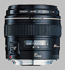 image of the Canon EF 85mm f/1.8 USM lens