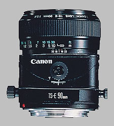 image of the Canon TS-E 90mm f/2.8 lens