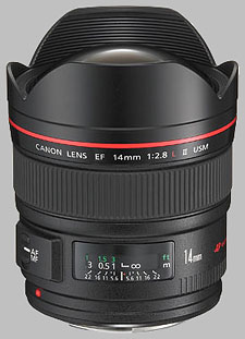 image of the Canon EF 14mm f/2.8L II USM lens