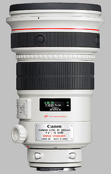 image of the Canon EF 200mm f/2L IS USM lens