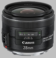 image of the Canon EF 28mm f/2.8 IS USM lens