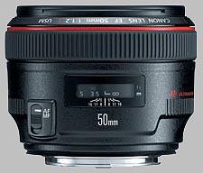 image of the Canon EF 50mm f/1.2L USM lens