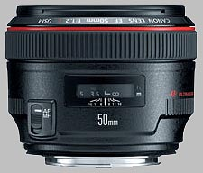 image of the Canon EF 50mm f/1.2L USM lens