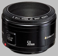 image of the Canon EF 50mm f/1.8 II lens