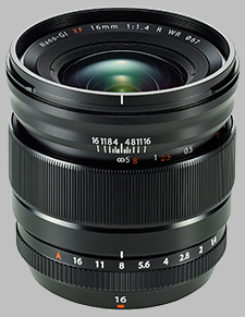 image of the Fujinon XF 16mm f/1.4 R WR lens