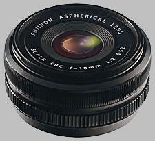 image of the Fujinon XF 18mm f/2 R lens