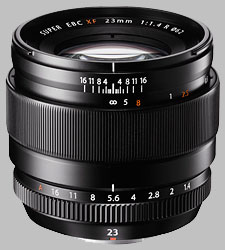 image of the Fujinon XF 23mm f/1.4 R lens