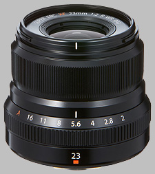 image of the Fujinon XF 23mm f/2 R WR lens