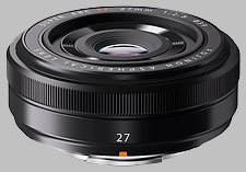 image of the Fujinon XF 27mm f/2.8 lens