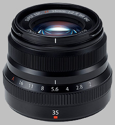 image of the Fujinon XF 35mm f/2 R WR lens