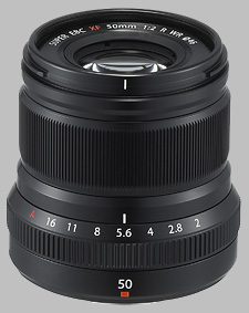 image of the Fujinon XF 50mm f/2 R WR lens