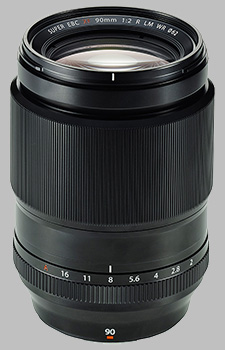 image of the Fujinon XF 90mm f/2 R LM WR lens