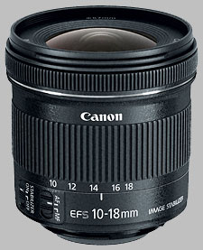 image of the Canon EF-S 10-18mm f/4.5-5.6 IS STM lens
