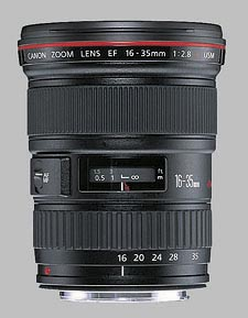 image of the Canon EF 16-35mm f/2.8L USM lens