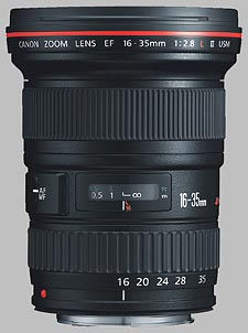 image of the Canon EF 16-35mm f/2.8L II USM lens