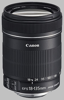 image of the Canon EF-S 18-135mm f/3.5-5.6 IS lens