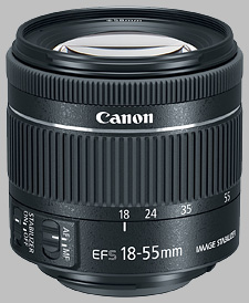 image of the Canon EF-S 18-55mm f/4-5.6 IS STM lens
