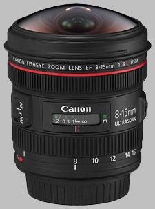 image of the Canon EF 8-15mm f/4L USM Fisheye lens