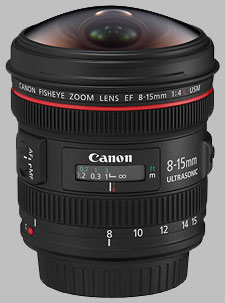 image of the Canon EF 8-15mm f/4L USM Fisheye lens