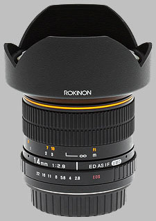 image of the Samyang/Rokinon 14mm f/2.8 IF ED UMC lens