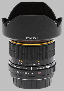 image of the Samyang/Rokinon 14mm f/2.8 IF ED UMC lens